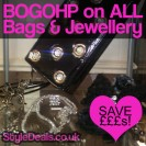 Buy one, get one half price on all bags and jewellery at Perfection By Sarah